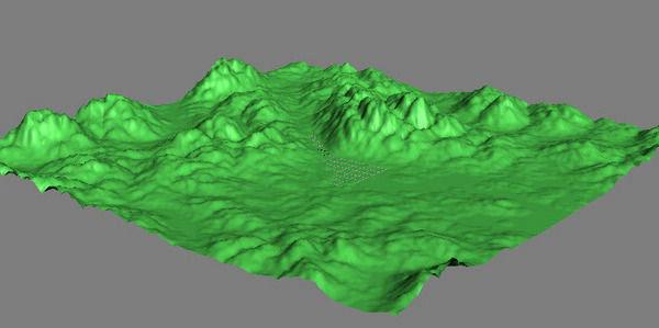 Создание ландшафта в 3d max