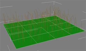 Трава в 3d max