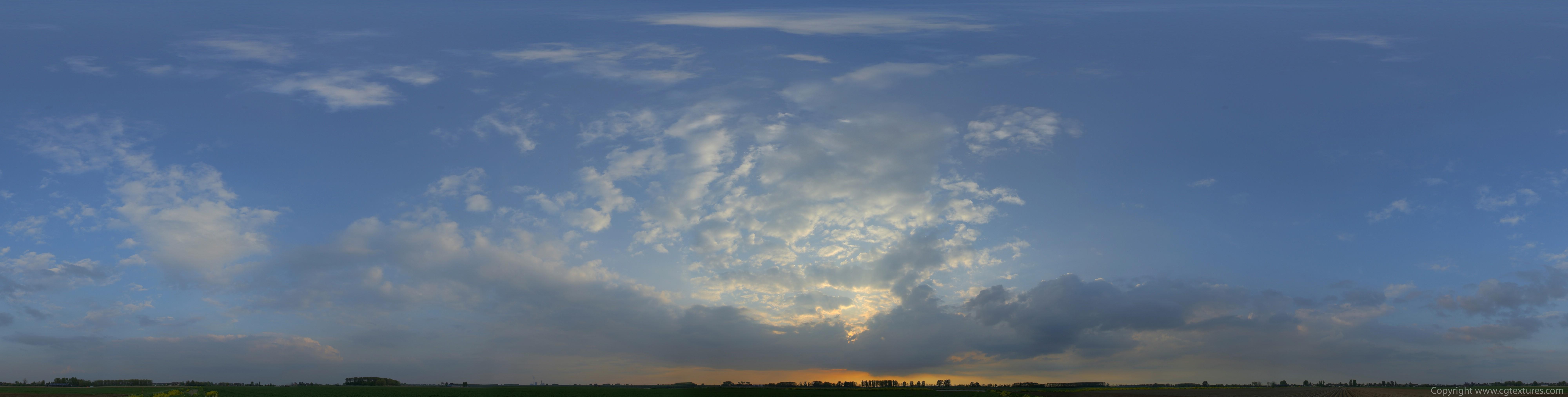 Текстура неба при закате